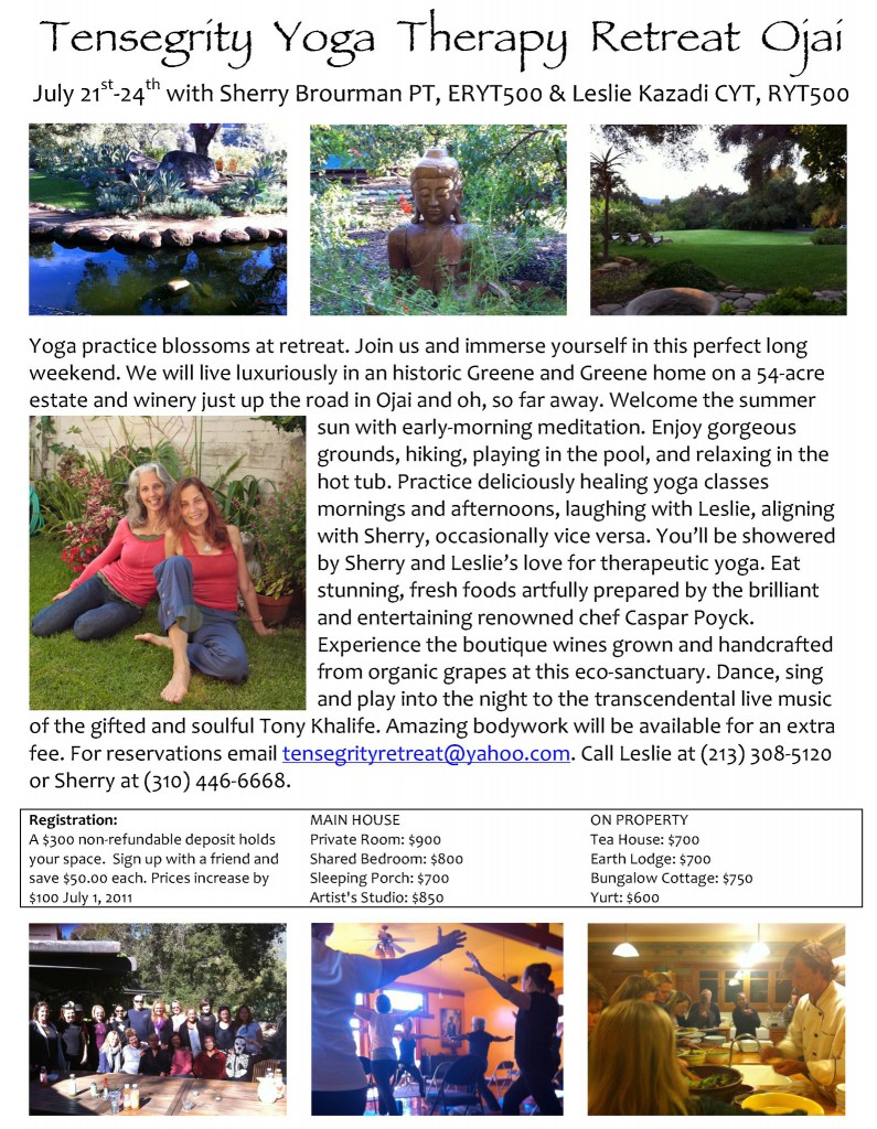 Yoga Therapy Retreat Ojai